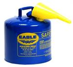 5 Gallon Metal Safety Can - Blue Kero w/Spout