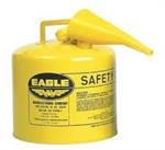 5 Gallon Metal Safety Can - Yellow Diesel w/Spout