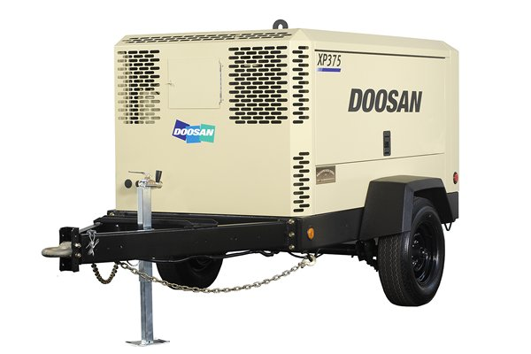Air Compressor Rental, Tow-Behind, 375 CFM