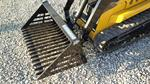 Blue Diamond Mini Skid Steer Rock Bucket