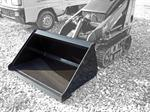 Blue Diamond Mini Skid Steer Smooth Bucket