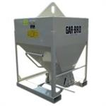 Concrete Bucket for Forks or Hook. 1 Yard Capacity