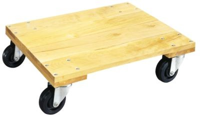 Dolly, Wood Platform w/casters, 900lb capacity