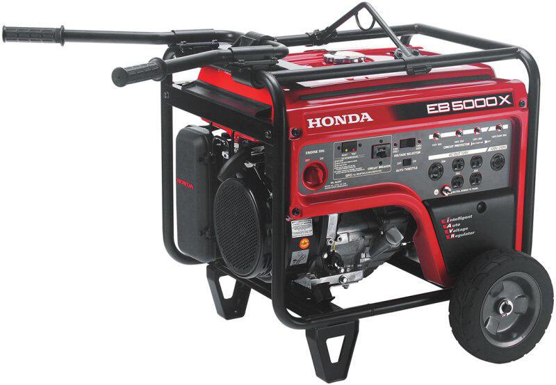 Generator Rental, Honda 5000 Watt, 120/240 Volt