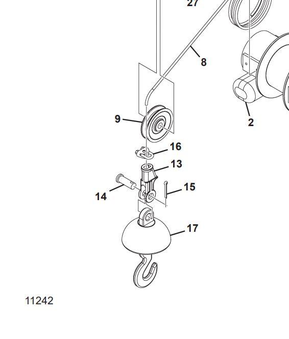 Hydraulic Jib Winch Rental for Skytrak. 3 FT.