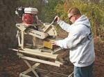 Rent a Brick/Block Saw with Water Tray, 14^, Gas
