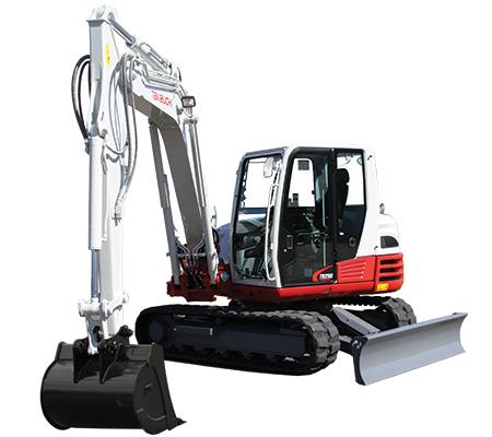Takeuchi Excavator Rental 8 Ton w/ Hydraulic Thumb