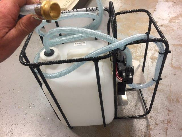 Portable Dust Control For Concrete Saws & Dust Control For Core Drills. Water Pump Powered By Dewalt 20 Volt Battery